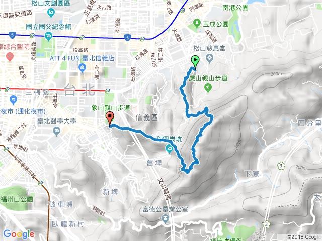 南港山攀岩步道(虎山-拓印亭-小岩壁-原始土徑-4號岩壁-南港山南峰-象山)
