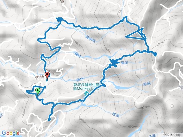 大坑步道溯溪-3.1號-5號(頭嵙山)-2號○型走