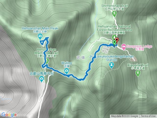2020-05-14 南投仁愛鄉松雪樓上合歡主峰