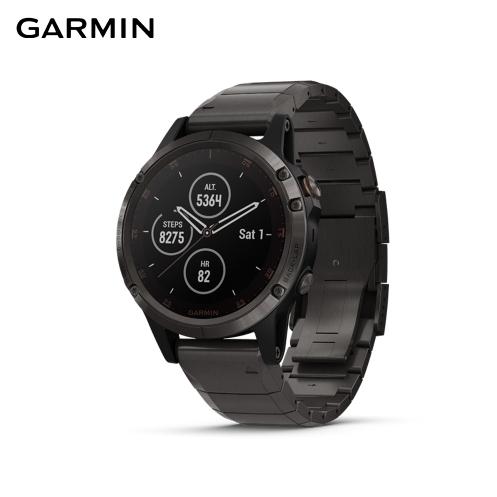 【GARMIN】冒險時刻 fenix 5 Plus 多功能運動GPS手錶 鈦錶帶(多星定位導航、離線地圖) 2