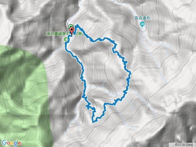 滿月圓山(興農橋、組合山、滿月圓山、滿月圓瀑布)