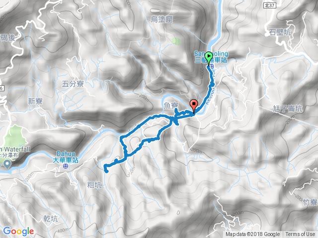 三貂嶺-幼坑古道-九層瀑布平溪線鐵路O型走