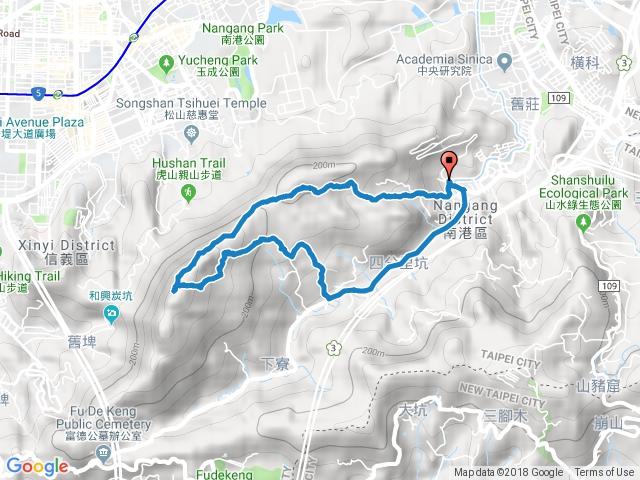 2018-10-21南港山縱走(中華科大-九五峰-南港山-麗山橋O型)